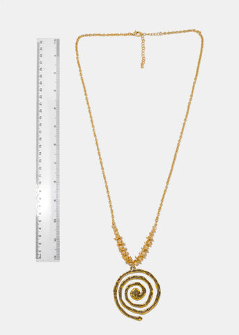 Gold Spanish Prayer Chain Necklace