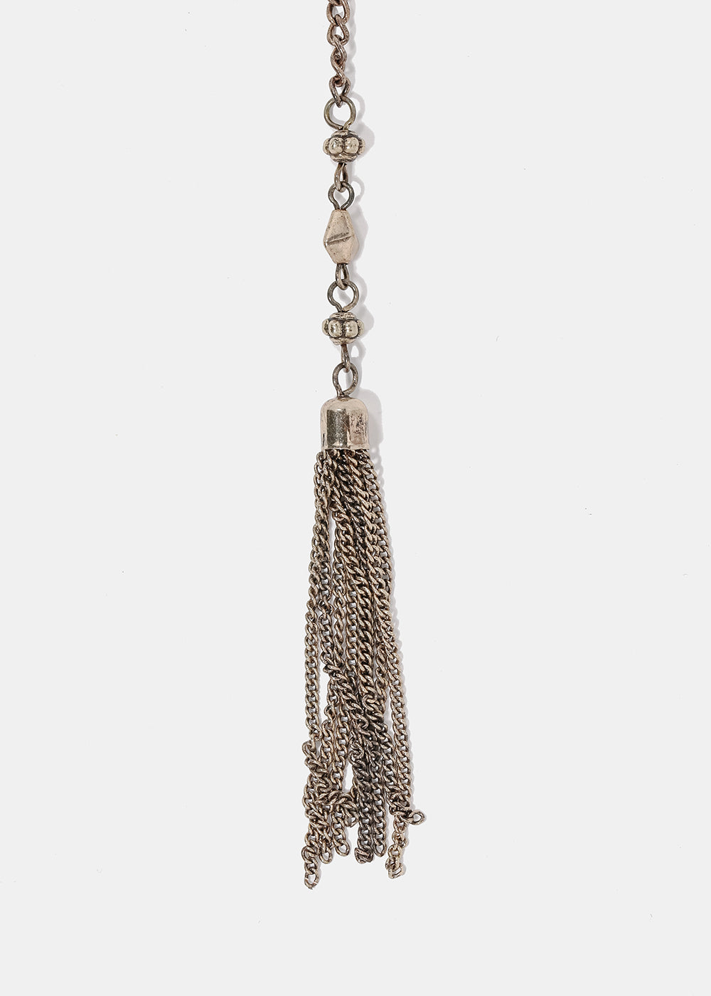 Long Chain & Tassel Necklace