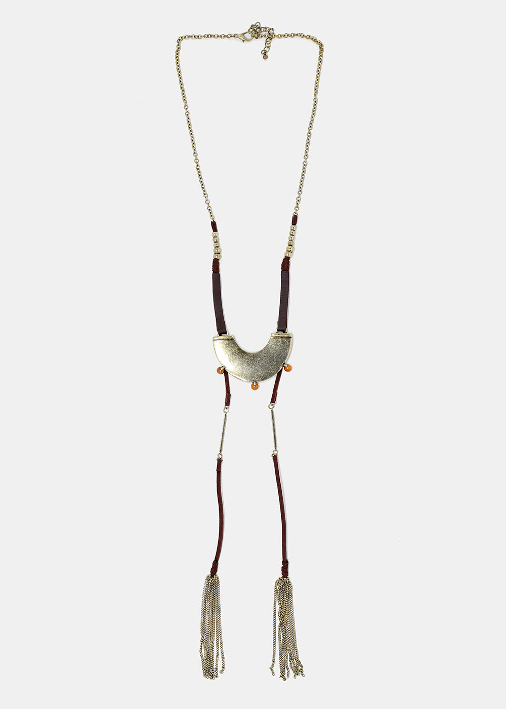 U-Shaped Metal Plate Necklace