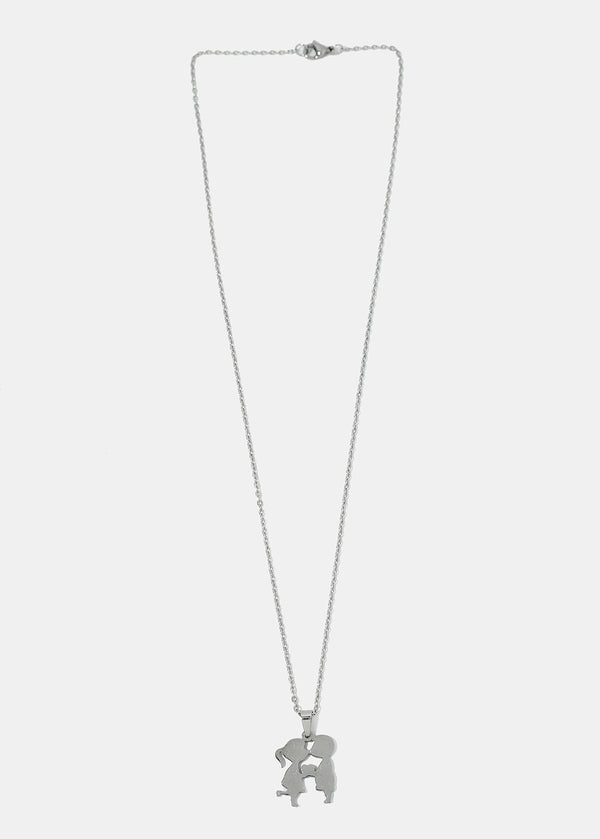 Kissing Figurines Chain Necklace