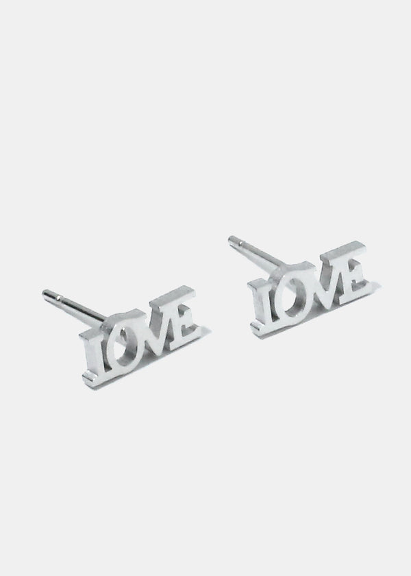 """LOVE"" Necklace and Earrings Set"