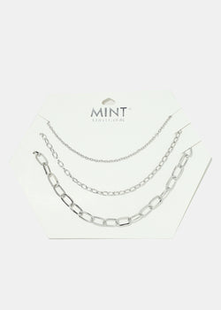 3-Piece Chain Necklace Set
