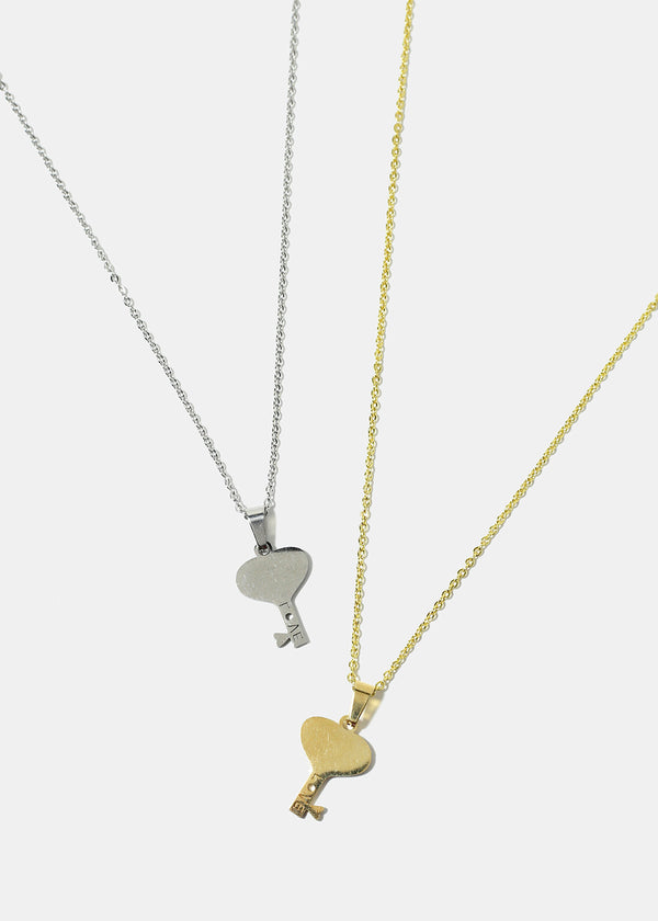 Love in Key Pendant Necklace