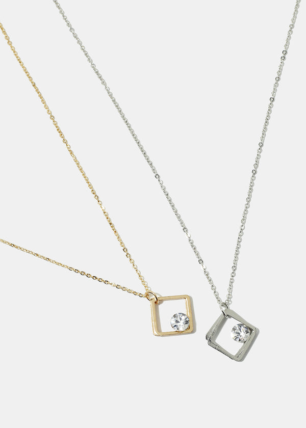 Square Shaped Necklace