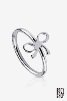 Ribbon Surgical Steel Nose Ring - Steel