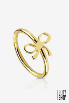 Ribbon Surgical Steel Nose Ring - Gold