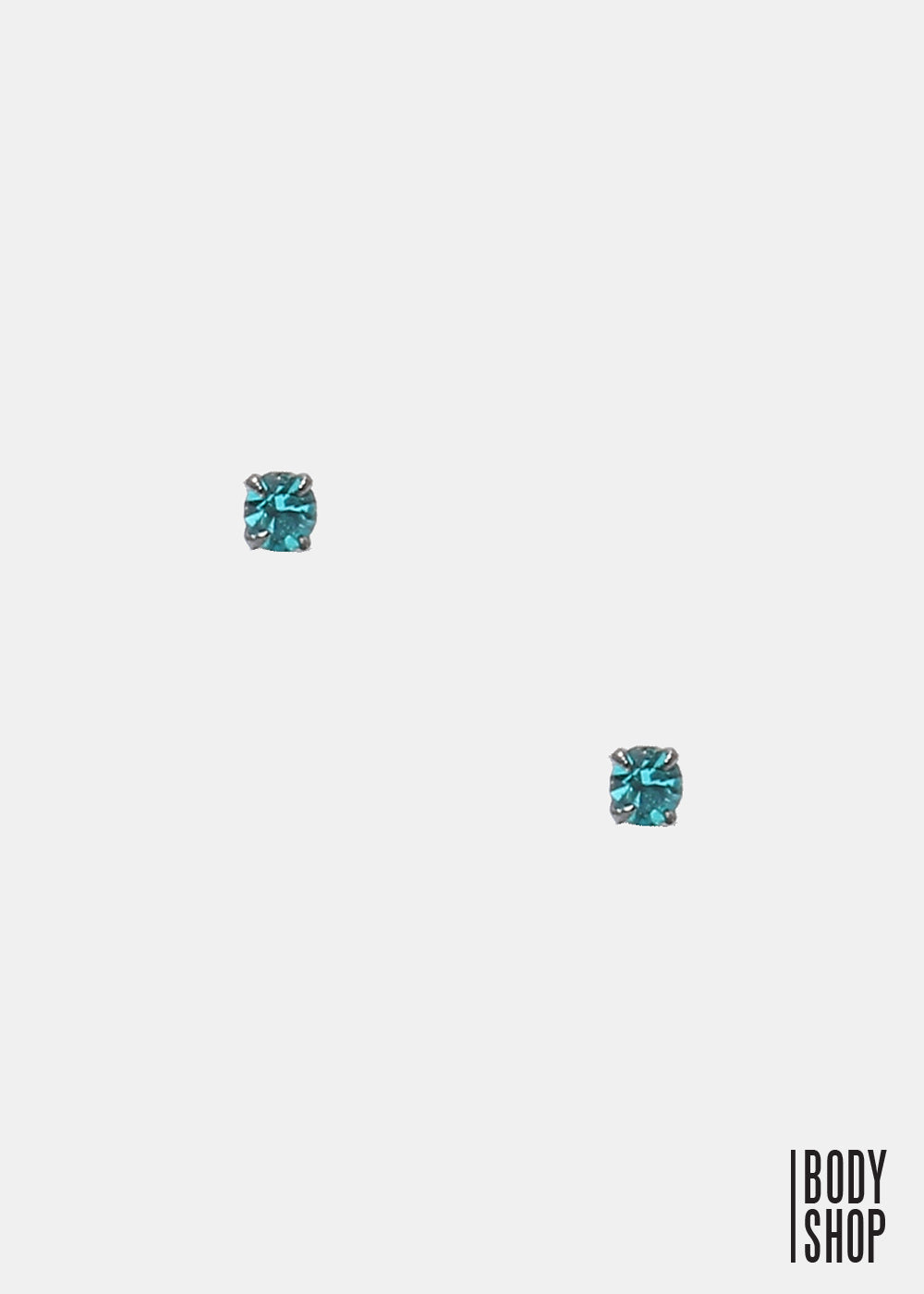 .925 Sterling Silver Nose Stud - Teal