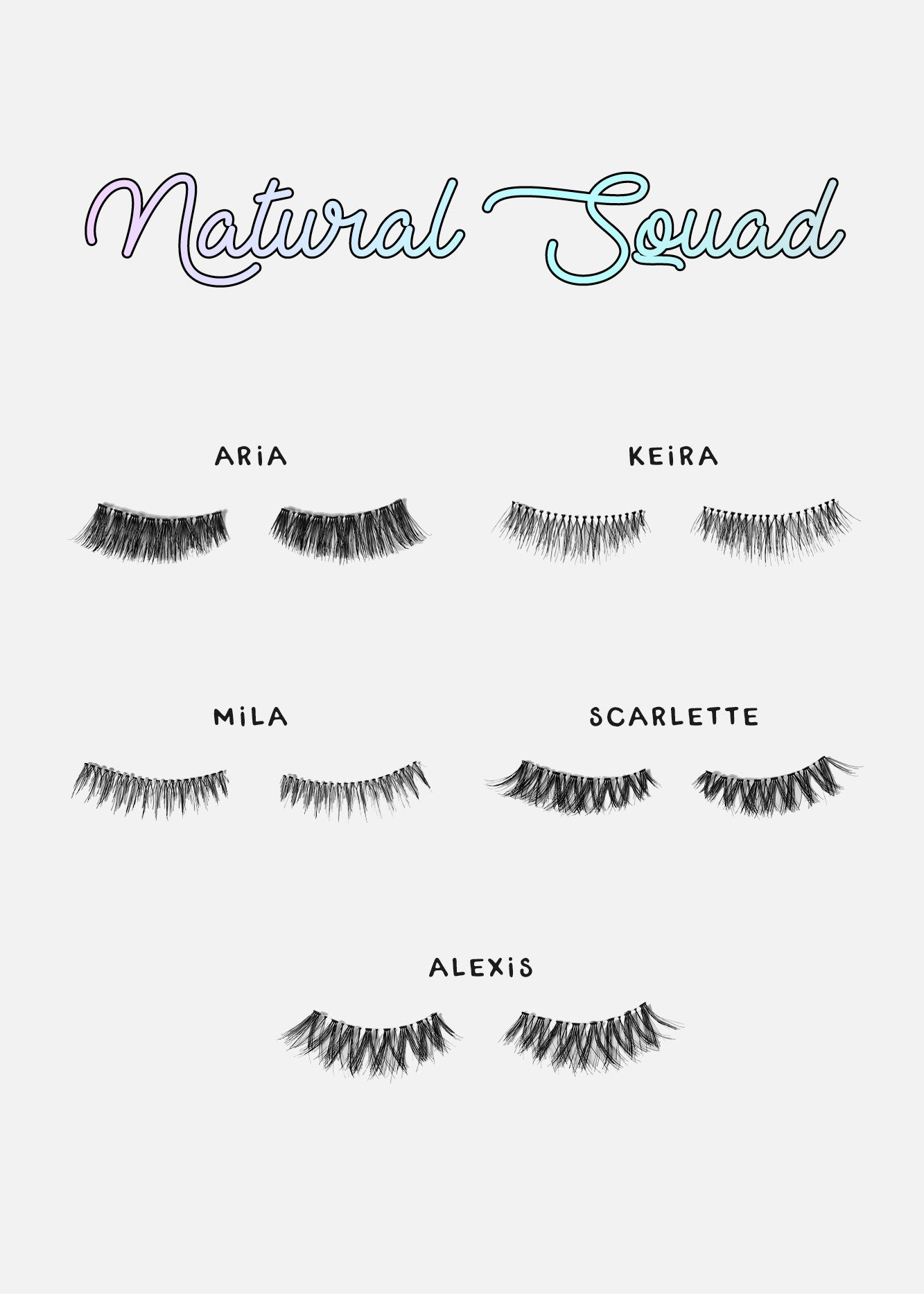 AOA Studio Eyelashes - Alexis 6-Pack