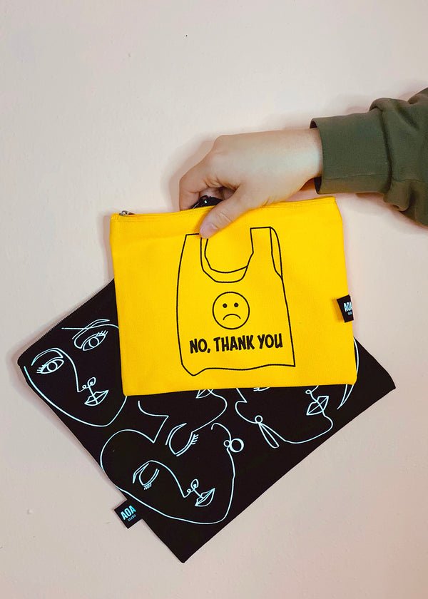 Re-Use Canvas Pouch - No Thank You