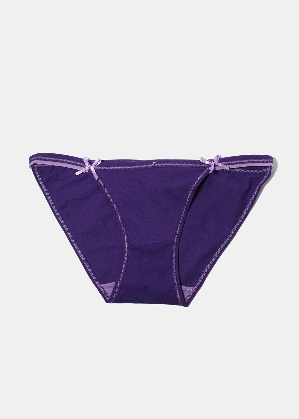 Bow Stretch Bikini Panty- Purple