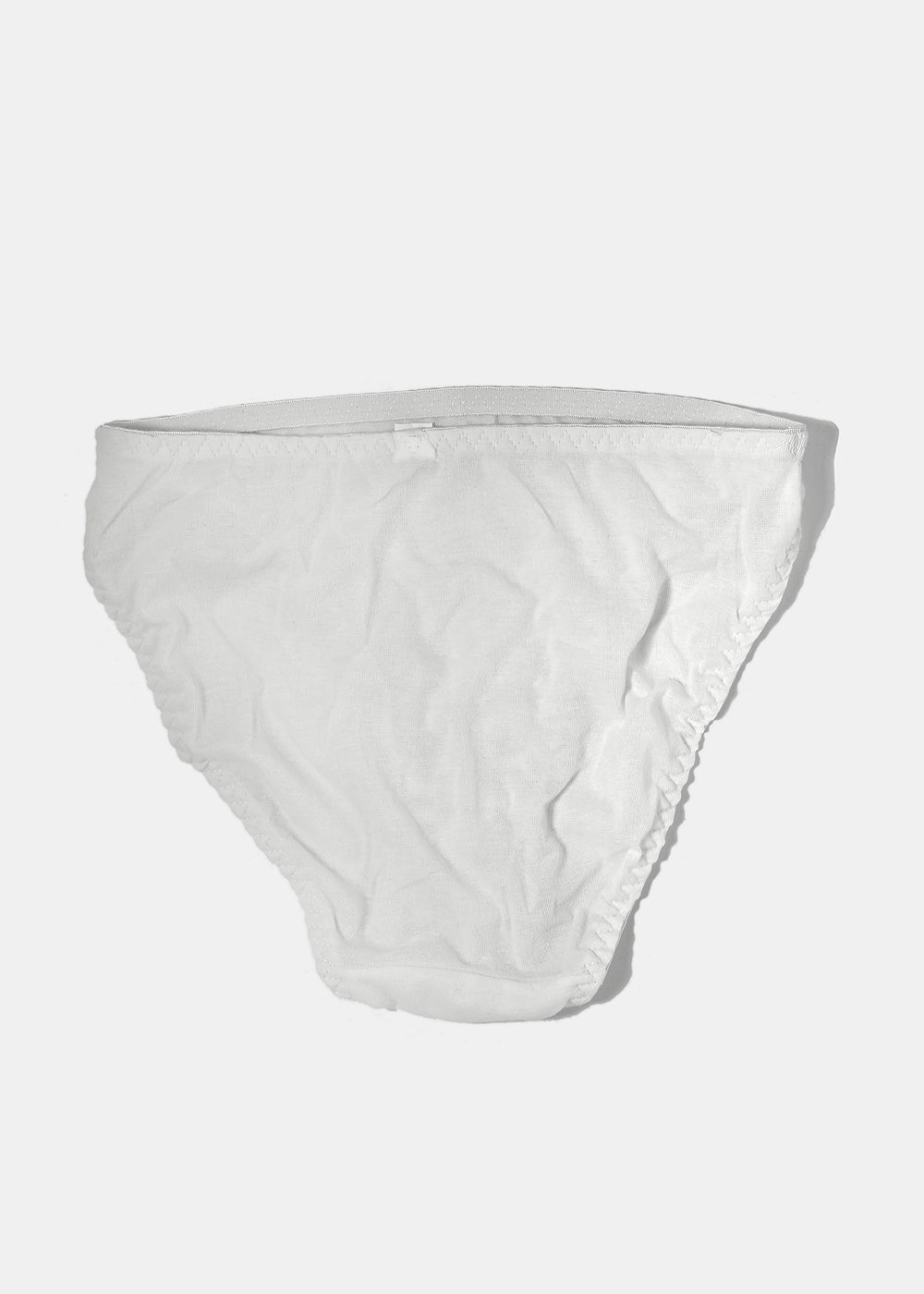 Solid Color Brief Panty- White