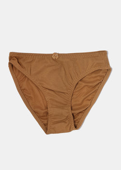 e7925f930d5c Solid Color Brief Panty- Brown – Shop Miss A
