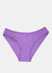 LOVE XOXO Print Brief Panty- Purple
