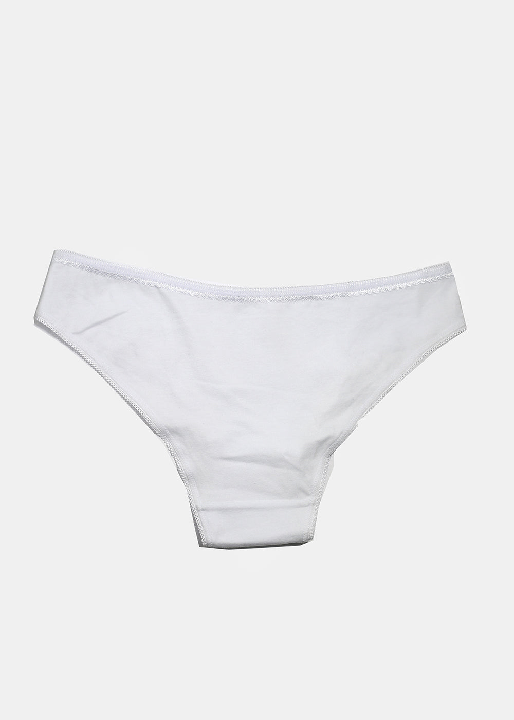 Solid Neutral Brief Panty- White