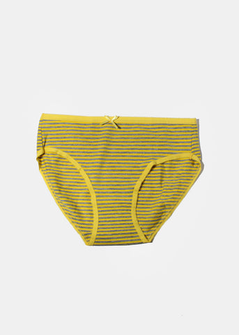 Striped Brief Panty- Yellow