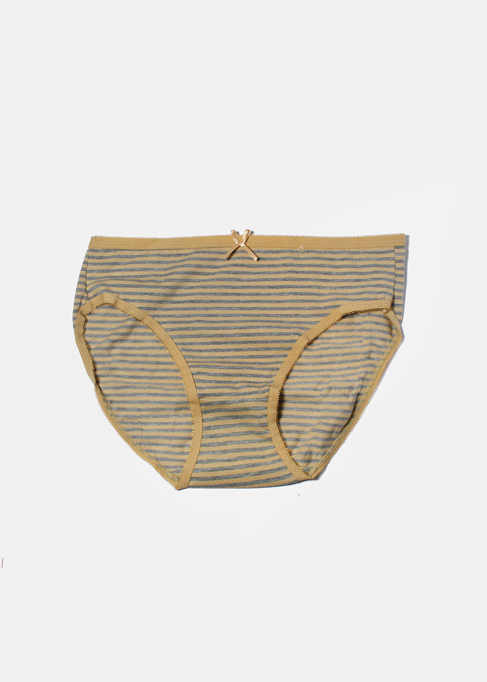 Striped Brief Panty- Beige