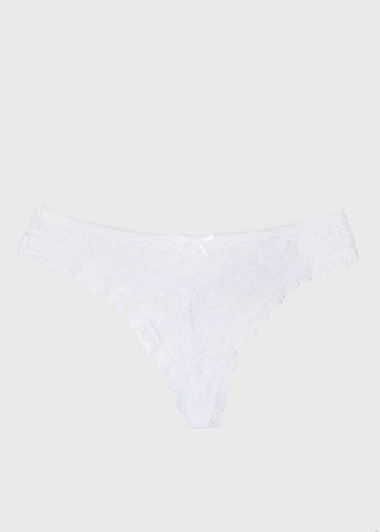 Lacy Thong Panty- White