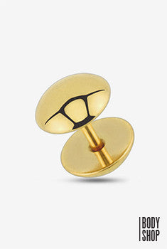 Dome Dumbbell Fake Plug - Gold