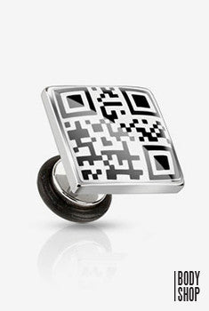 Square with QR Code Message Fake Plug-Gay Pride 16GA