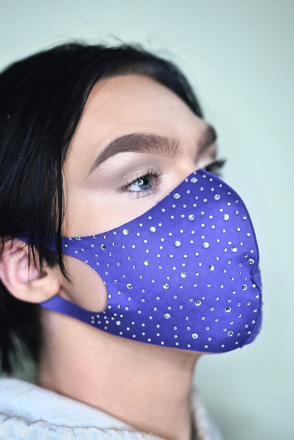 Adult Size Re-Usable Gemstone Studded Face Mask
