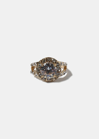 Sparkling Round Gemstone Ring