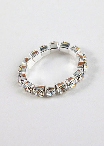 2 Piece Silver Rhinestone Toe Rings