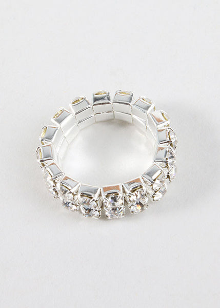 2 Piece Double Rhinestone Toe Rings