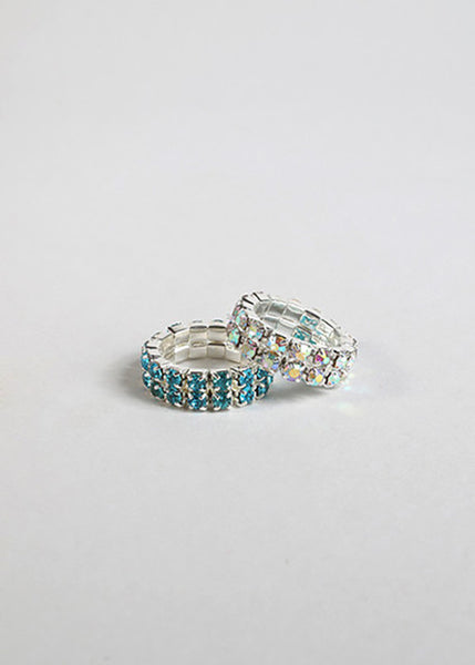 Double Band Rhinestone Toe Ring