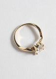 Round Rhinestone Gold Ring
