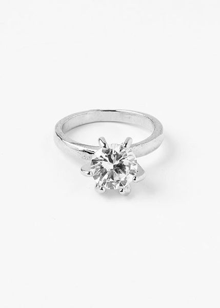 High-Set Rhinestone Ring