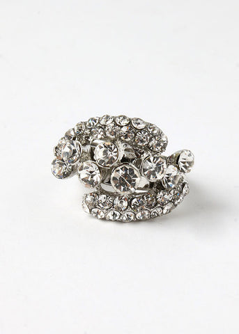 Rhinestone Cluster Cocktail Ring