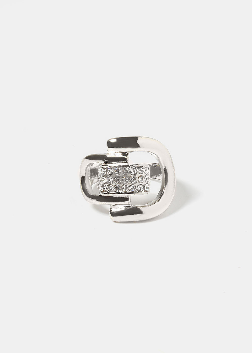 Rhinestone Buckle Ring