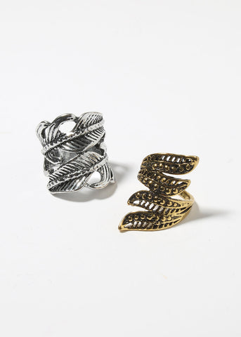 Boho Leaf Wrap Ring