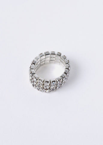 Stacked Rhinestone Stretch Ring