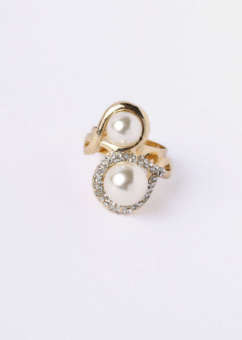 Stacked Pearl Ring