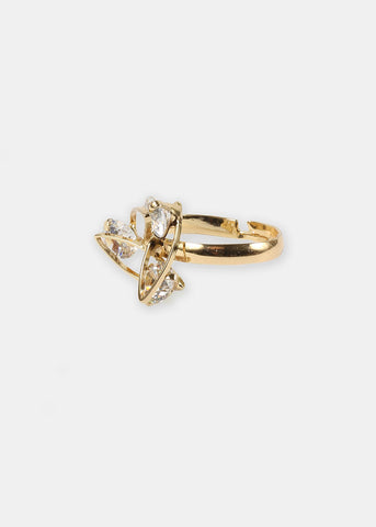 Gold Triple Rhinestone Ring