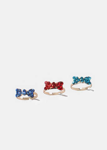 Rhinestone Bow Ring