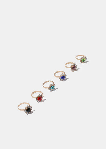 Flower Gemstone Ring