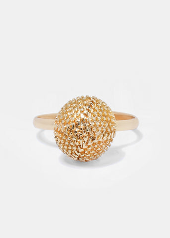 Textured Metal Dome Ring