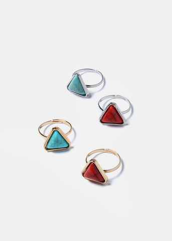 Triangle Stone Ring