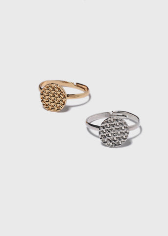 Basketweave Disc Ring