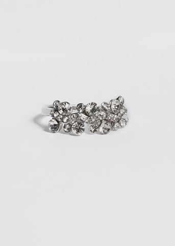 Wave Rhinestone Cluster Ring