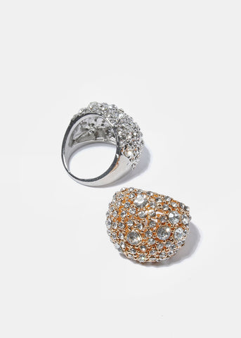 Large Rhinestone Dome Ring