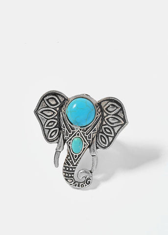 Turquoise Stone Animal Ring