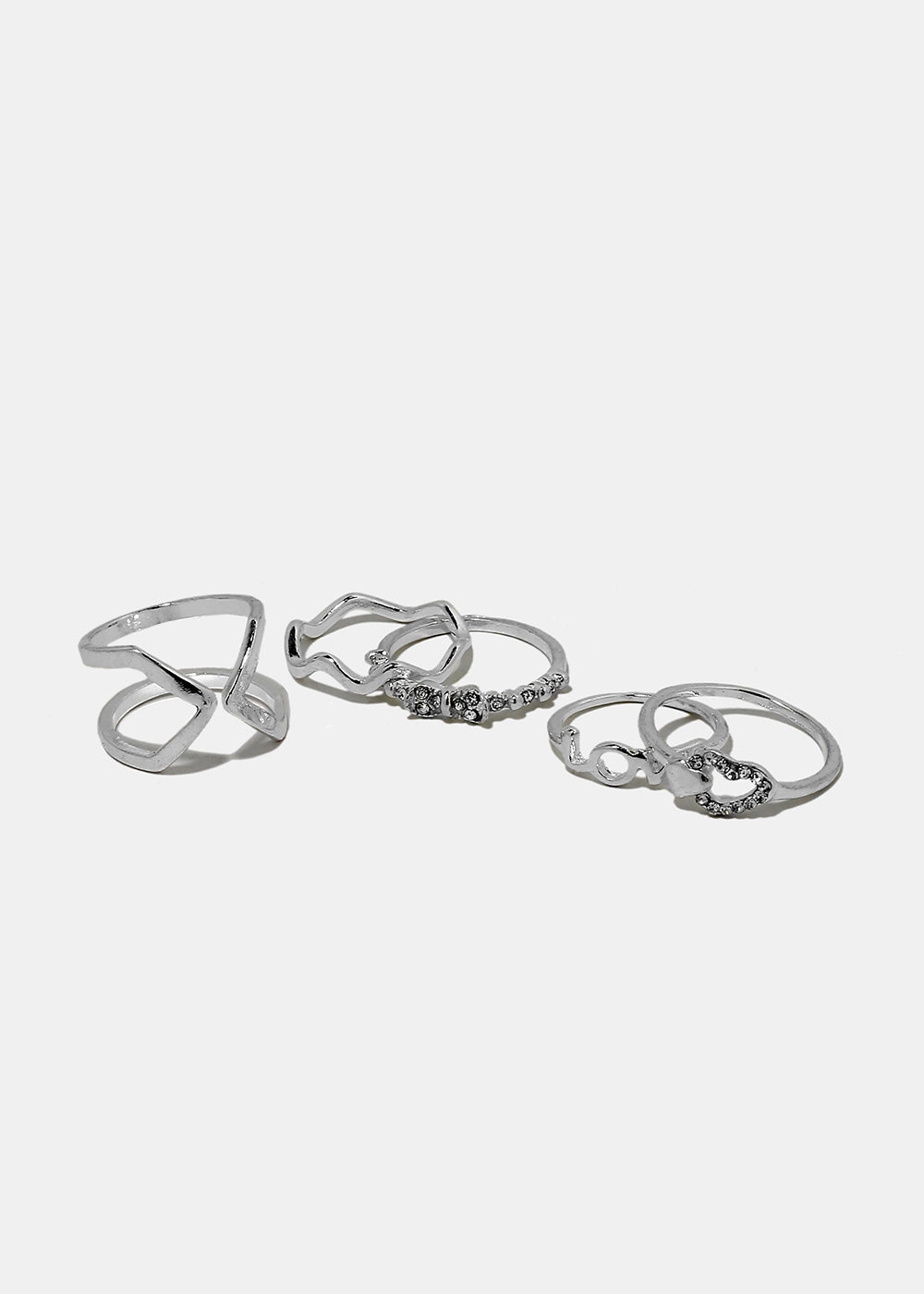5-Piece Love Midi Ring Set