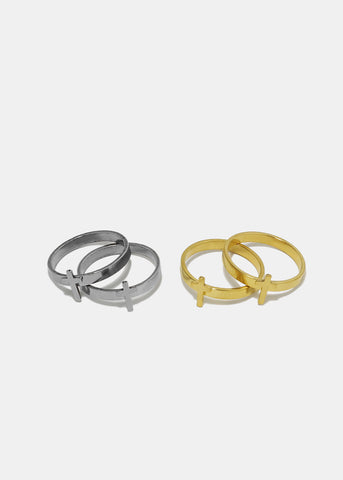 2-Piece Cross Ring Set
