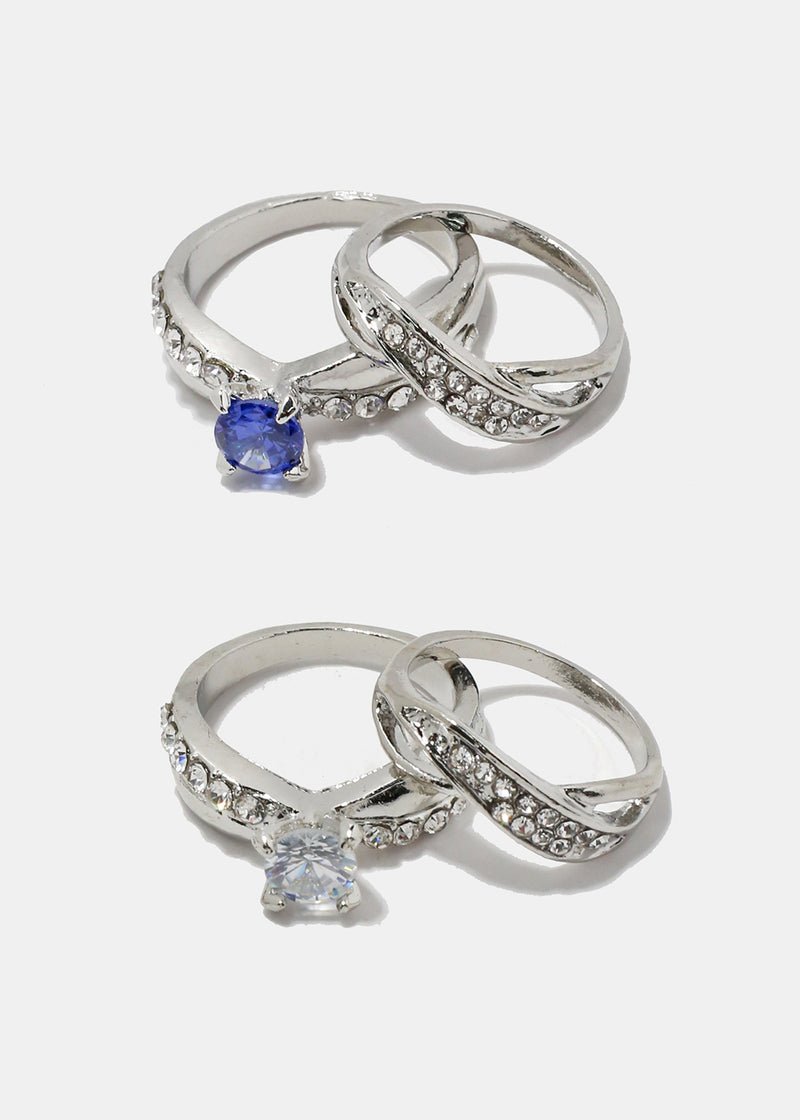 84248497f 2-Piece Solitaire Gem & Rhinestone Rings – Shop Miss A
