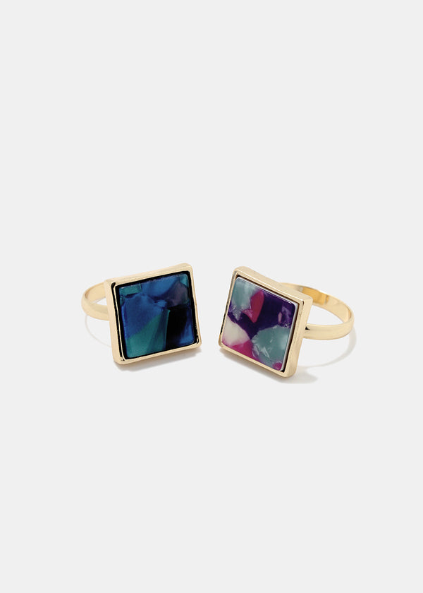 Marbled Square Ring