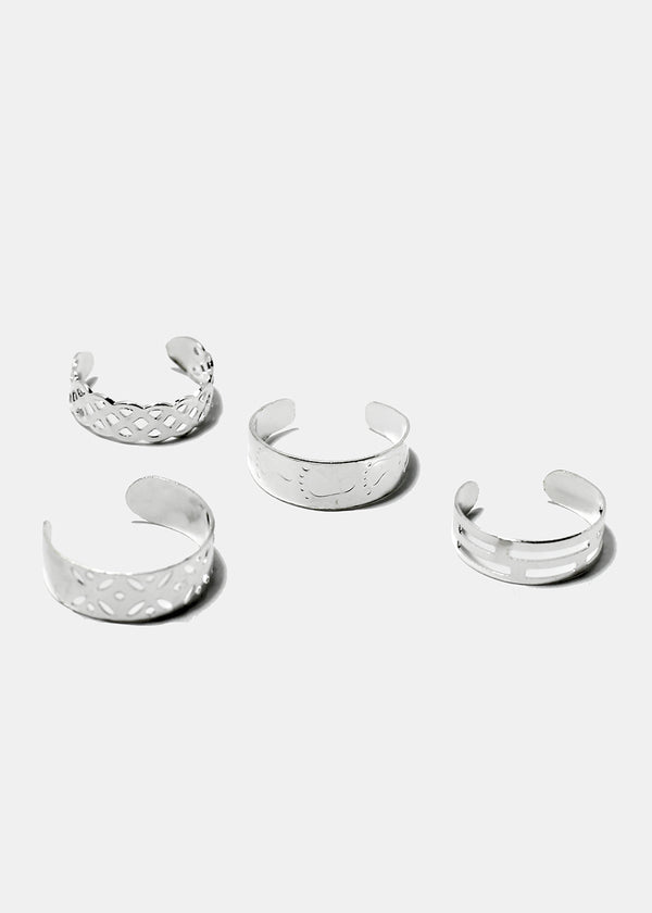 8-Piece Multi Design Toe Rings