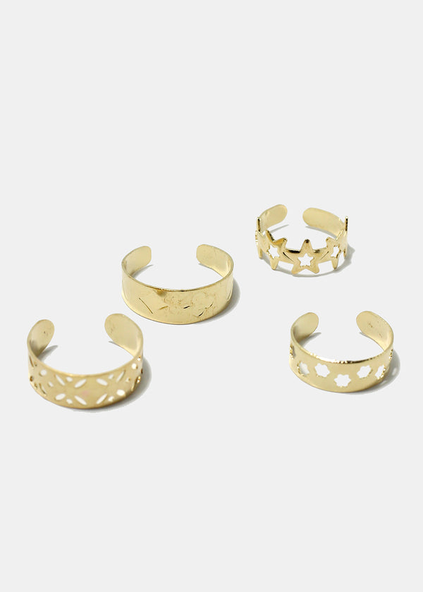 8-Piece Retro Design Toe Rings